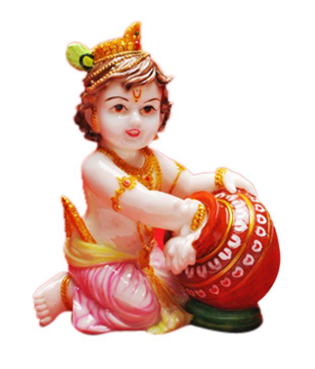 Cosmos Galaxy Polyresin Lord Krishna Idol