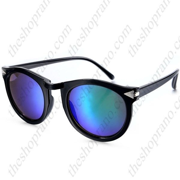 Γυαλιά ηλίου κοκκάλινα με μπλε φακό καθρέφτη UV400