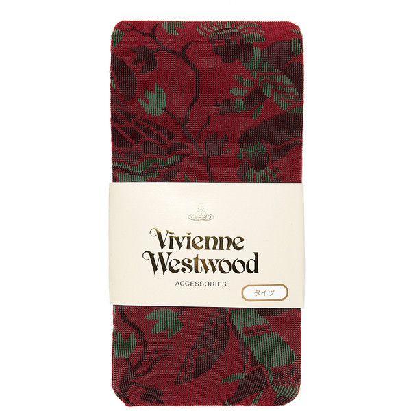 Vivienne Westwood Vivienne Westwood Aztec Tights Red (£45) ❤ liked on Polyvore