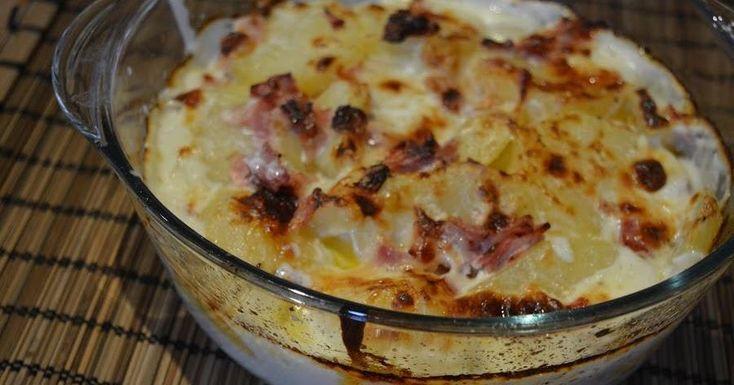Cómo hacer papas al horno con queso y jamón