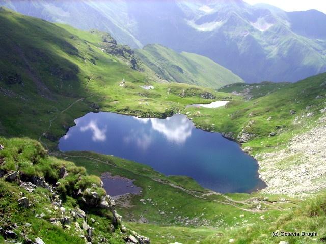 Capra Lake in the Făgăraș Mountains