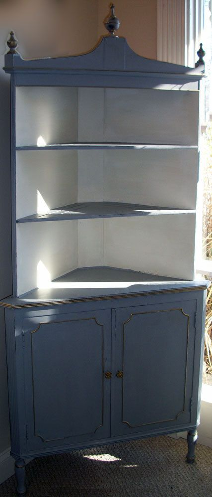 corner china cabinet Me: I may need to MAKE one...not many corner units out there.