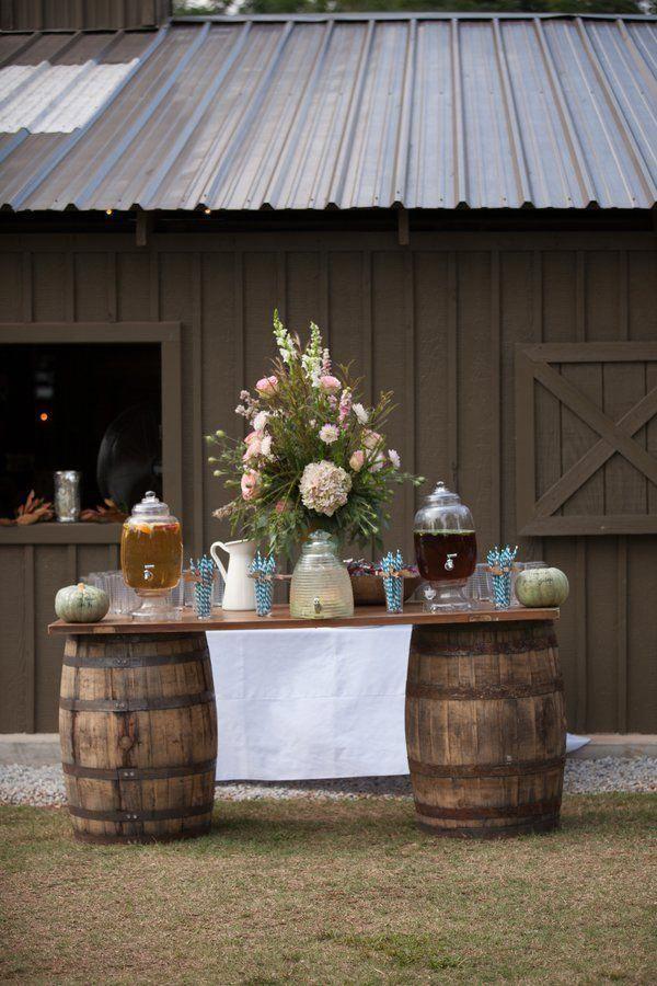 8 Fun Unique Wedding Drink Displays Rustic Country Wedding