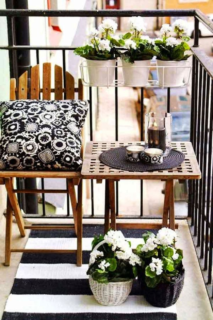 Black and White French Balcony Design