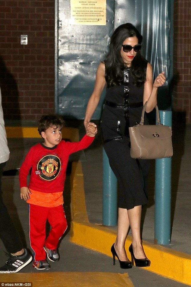 Huma Abedin was seen on Sunday coming home with her four-year-old son Jordan. Their outing came a month after she announced she was ending her marriage to Anthony Weiner
