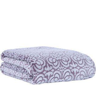 Berkshire Blanket Tile Floral Velvet Soft Full/Queen Blanket