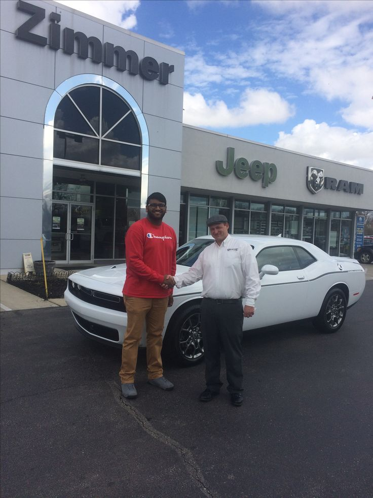 Akash Patel is thrilled to finally have the modern muscle car he's wanted! Congrats and enjoy your new Dodge Challenger, sir! www.zimmermotors.com
