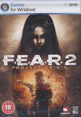 FEAR 2 PROJECT ORIGIN F.E.A.R. II Horror Shooter PC Game for Windows NEW!