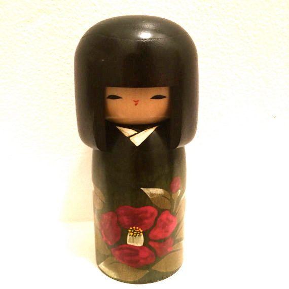 Usaburo Kokeshi Japanese Wooden Doll by HippyHappyShop on Etsy