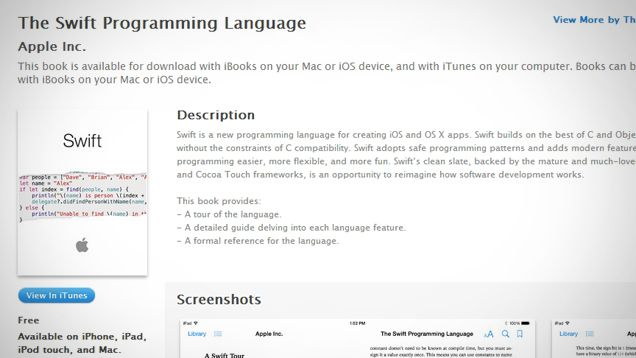 Get Started With Apple's Swift Programming Language With a Free eBook