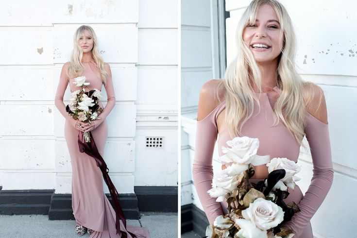 From Peach to Wine: Natalie Rolt Bridesmaids Photo / Aesthete Collective Styling / Olympia Creative Florals / Sheridan Tjhung