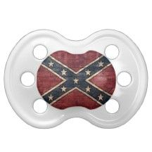 L'il Redneck Baby Rebel Flag Brick Wall Baby Pacifiers awesome!!!!