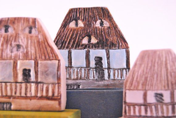 Collectible rural Romanian House miniature rustic house