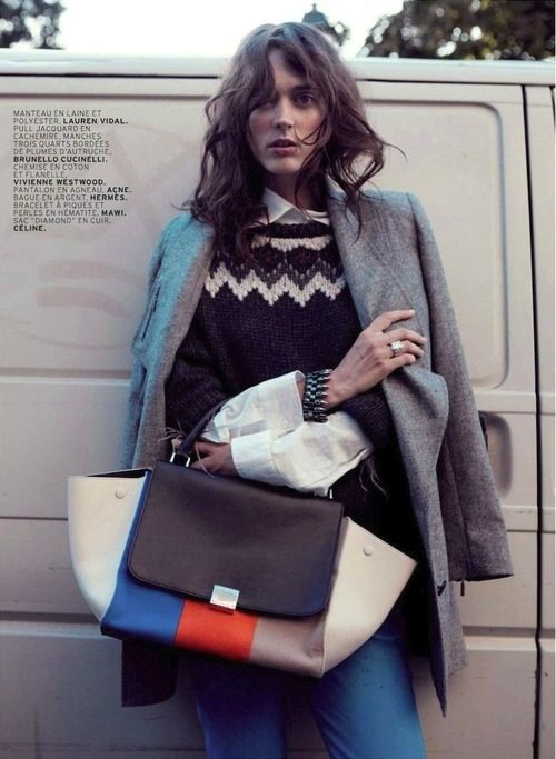 Patchwork Celine, fair aisle sweater. Recipe for success.