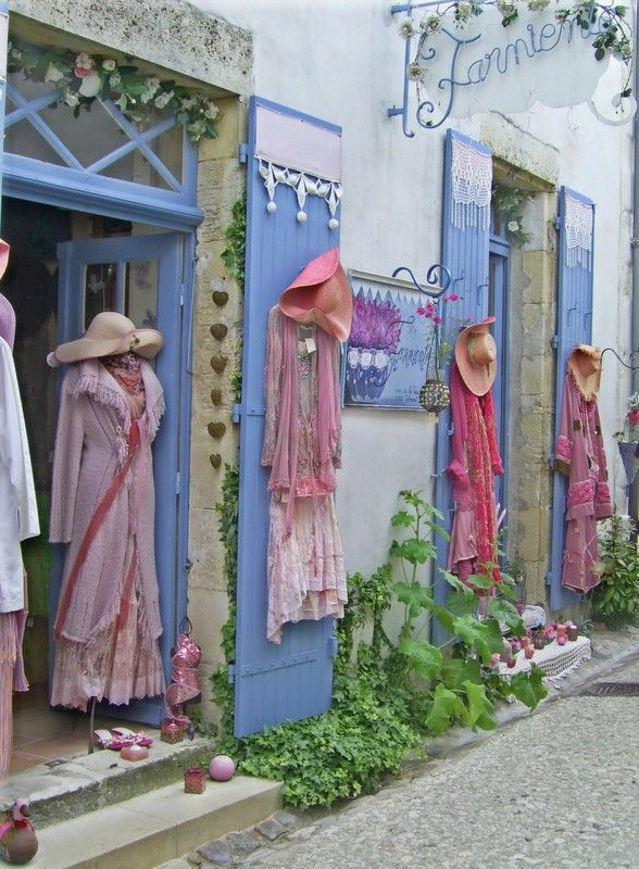 A cute little boutique in the village of Marnac, Dordogne, France