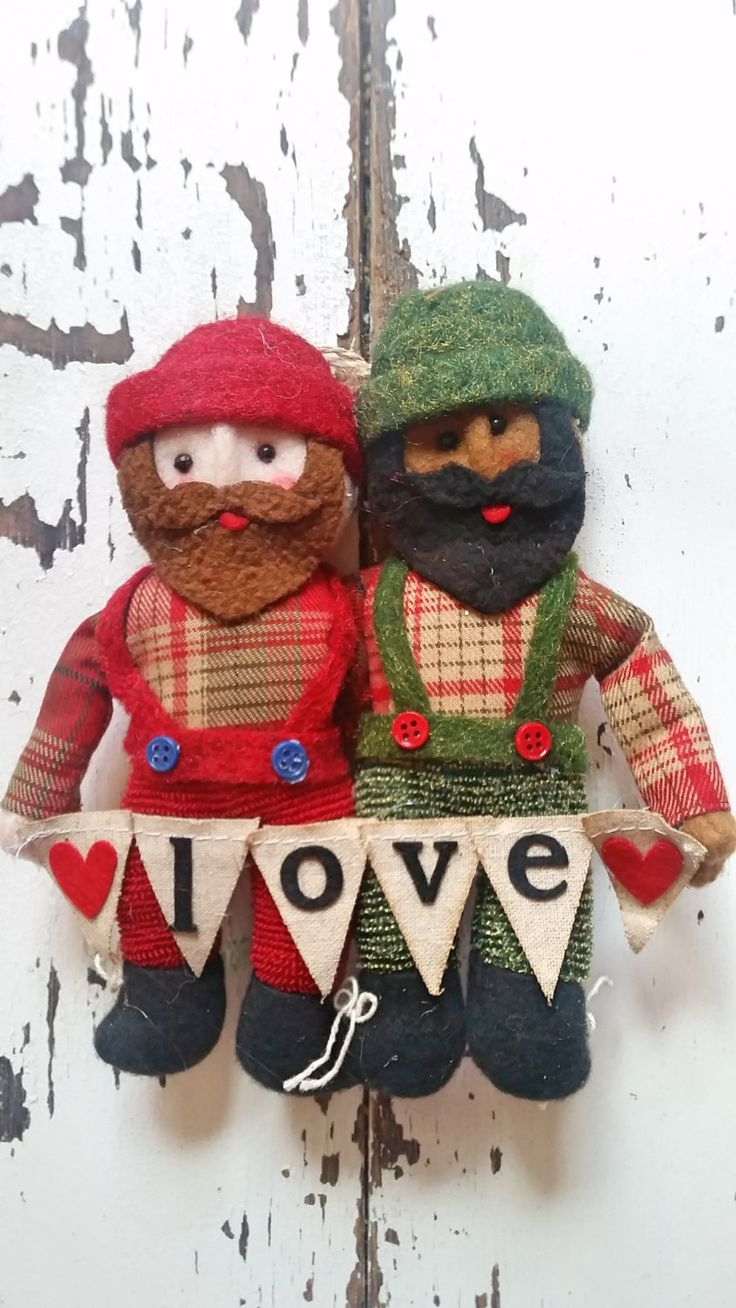 Lumberjack In Love Holiday Christmas Ornament, Lgbt, Gay, Bear, Beard By  Yukonjimstradingco