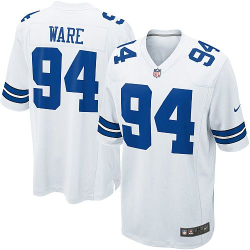 mens discount nike 94 demarcus ware game white nfl dallas cowboys jersey free shipping