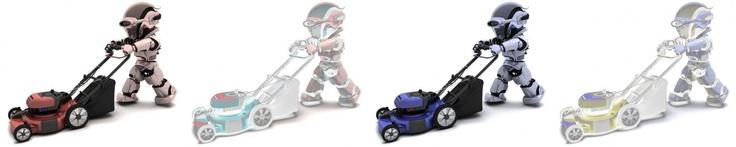 """alle existenten Rasenmäher Roboter folgen exakt diesem genialen Prinzip, das einen normalerweise vorhandenen Arbeitsschritt  beim Rasen mähen einfach in """"Luft"""" oder auch Dünger auflöst."""