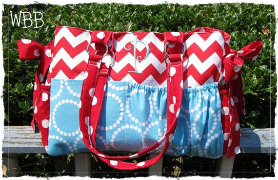 Custom Diaper Bag XL Deluxe Handmade by WhistleBritchesBoutq, $125.00