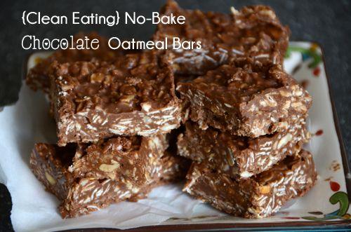 No-Bake Chocolate Oatmeal Bars These No-Bake Chocolate Oatmeal Bars ...