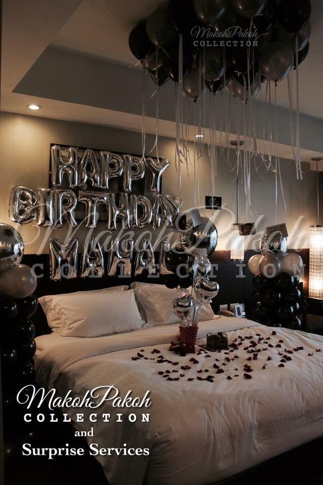 Create A Romantic Valentine S Day Bedroom Using Your 5 Senses Fun Home Design Birthday Room Decorations Birthday Decorations For Men Romantic Room Decoration