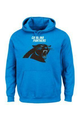Majestic Electric Blue Carolina Panthers Critical Victory Hooded Fleece Sweatshirt