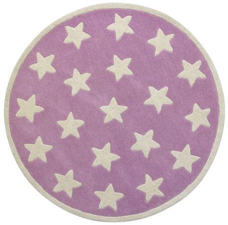 Kids Concept, Star, Ullmatta, Små stjärnor, Rosa Mattor Textilier Barnrum på nätet hos Lekmer.se