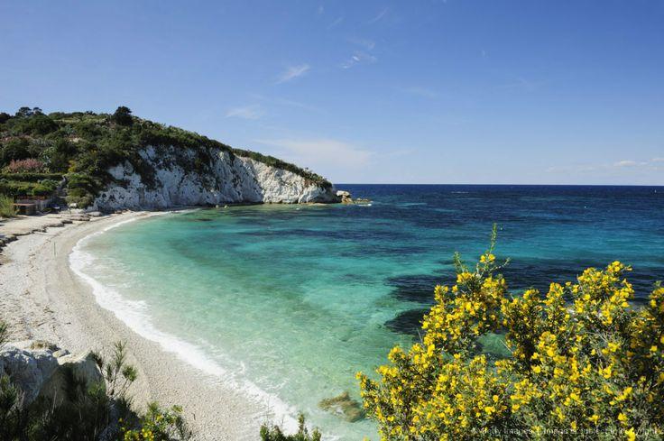 View over Mediterranean bay, Portoferraio, Elba Island, Tuscany, Italy