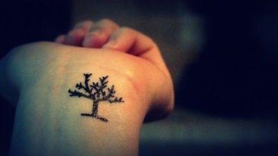 Tiny tree tattoo -  Over 30,000 Tattoo Ideas and Pictures Enjoy! http://www.tattooideascentral.com/tiny-tree-tattoo/