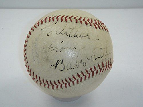 #Collectables Babe Ruth PSA/DNA Certified Authentic Single Signed Baseball To Arthur Autograph – Authentic MLB Autograph