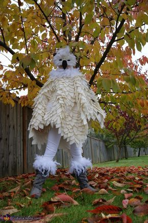 Hedwig loves fall! . Hedwig the Snowy Owl - Homemade costumes for girls