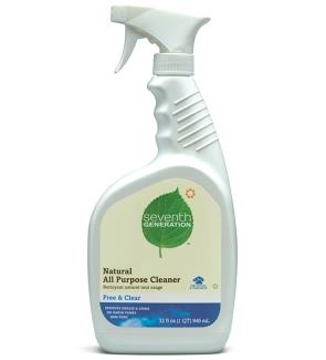 Natural all-purpose cleaners are a must! Indoor pollution can be worse than outdoor pollution.