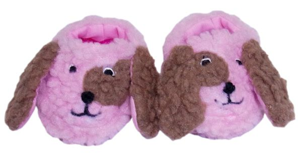 Cute puppy slippers for your doll.  Simply slip these slippers on and dolly's feet will be toasty and warm this winter.  These slippers will fit dolls with a foot measurement up to 65mm long and 35mm wide.