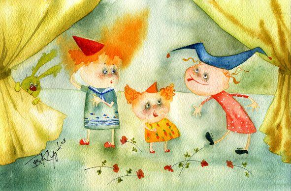5 bald clowns -  Vika Kirdiy