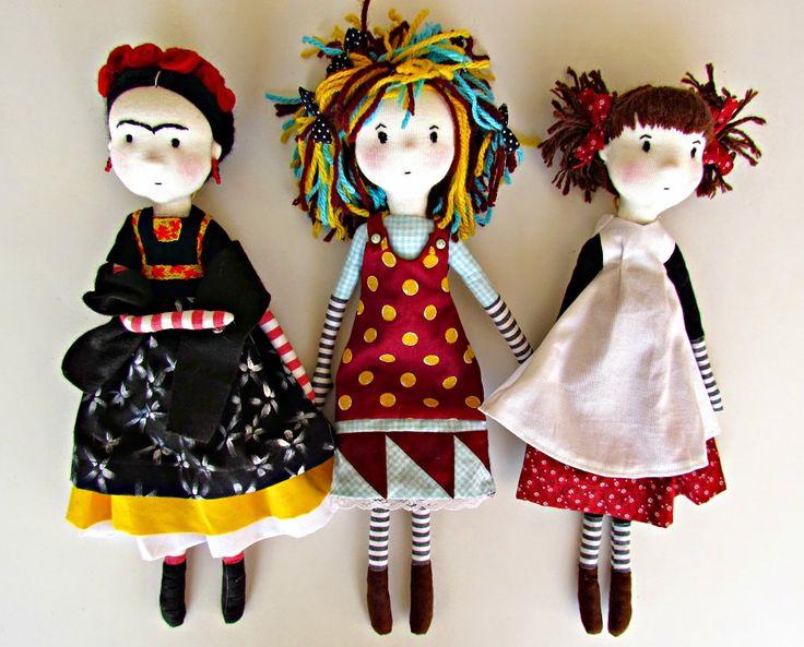 ANACARDIA atelier: As bonecas da Cecília Cecília Murgel Dolls by Anacardia…