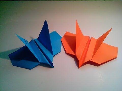 Como hacer un avión de papel F-16 Jet Fighter - YouTube