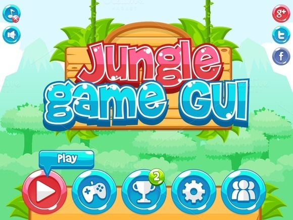 Jungle Game GUI by pzUH on @creativemarket