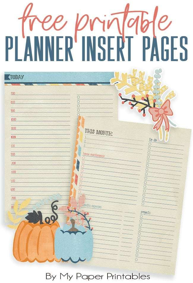 Get Organized with Free FALL Printable Planner Insert Pages