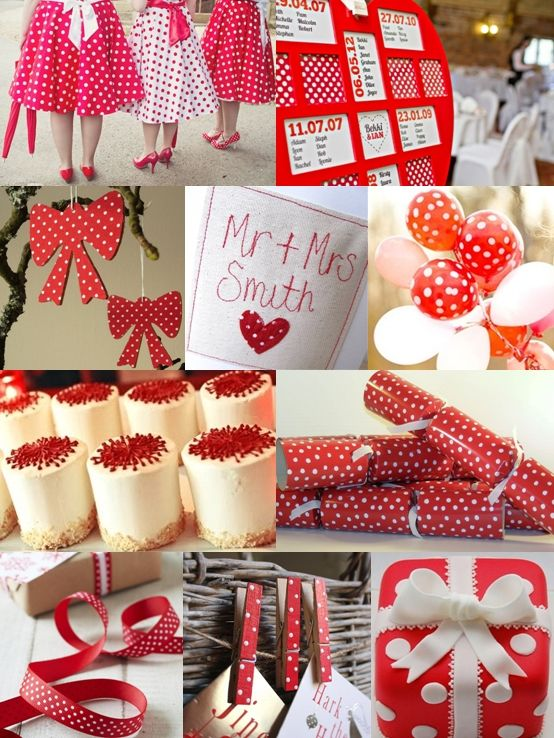 Red and White Spot Christmas Wedding Ideas - Moody Monday - The Wedding Community Blog