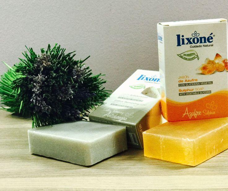 Si tienes la piel grasa y sensible no te olvides de hidratarla y cuidarla cada mañana 💚  El jabón de Azufre #lixone  puede ser tu mejor aliado