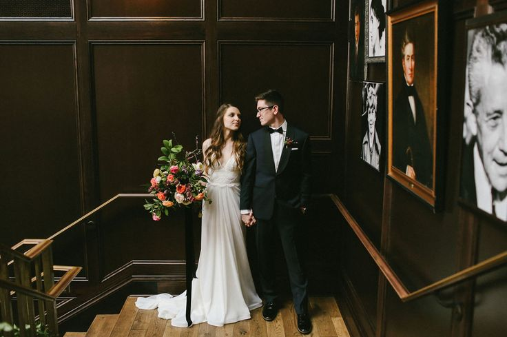 Urban, modern, cool hipster wedding at the Oxford Exchange in Tampa, Florida