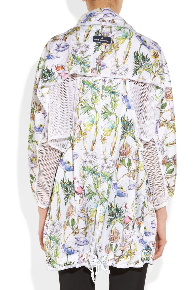 Adidas by Stella McCartney Run floral-print shell jacket now $150 at NET-A-PORTER.COM