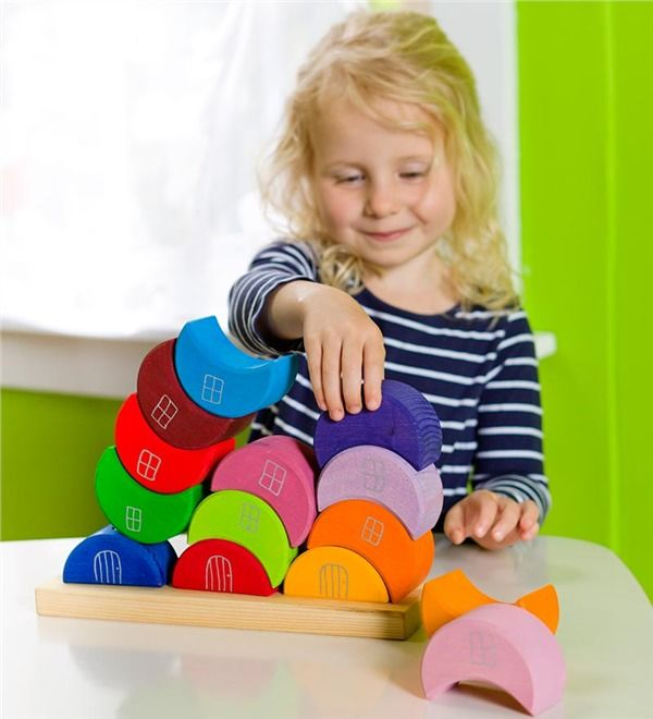Main image for Wooden Stacking Blocks from Grimm%27s%26reg; Toys