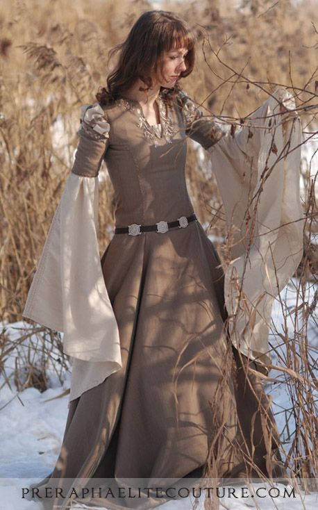 Wool and linen Fantasy Dress03 by ~Angirias on deviantART