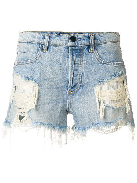 Alexander Wang ripped denim shorts