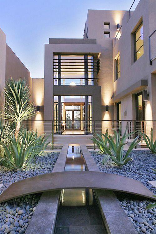17 mejores ideas sobre casas exteriores grises en for Ideas para jardines exteriores