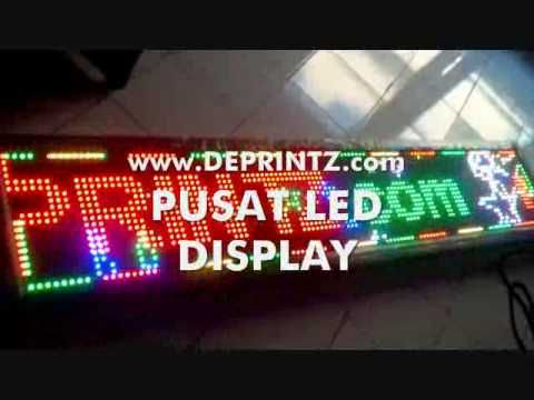 JUAL RUNNING TEXT 3 WARNA TRI COLOUR MERAH HIJAU KUNING RED GREEN YELLOW...
