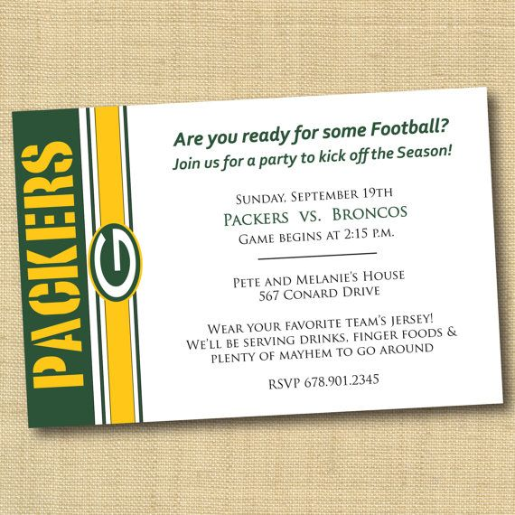 Best 25 Football party invitations ideas – Football Party Invites