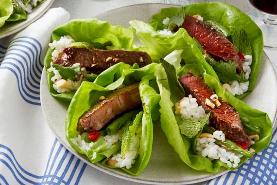 Thai+Steak+Lettuce+Cups+with+Spicy+Green+Beans+&+Sushi+Rice.+Visit+https://www.blueapron.com/+to+receive+the+ingredients.