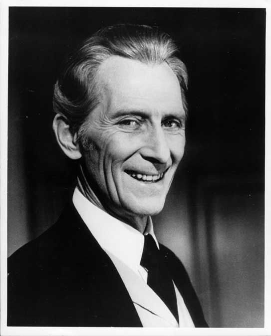 "Peter Cushing (1913 - 1994) Played Grand Moff Tarkin in the movie ""Star Wars"", known for his long career in horror films"
